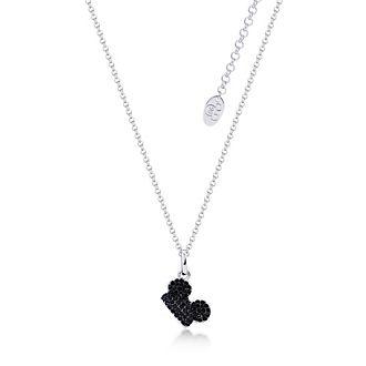 Couture Kingdom Collier Mickey Mouse plaqué or blanc à cristaux noirs