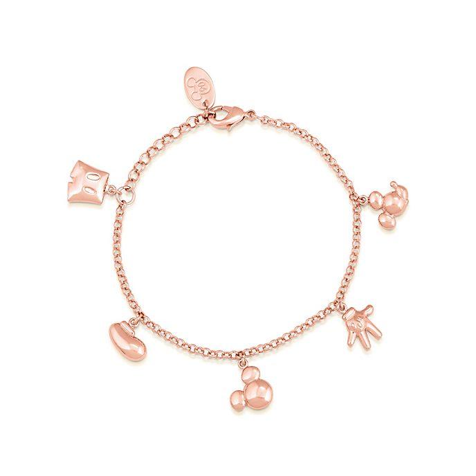Pulsera con abalorios bañada en oro rosa Mickey Mouse, Couture Kingdom