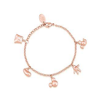 Bracciale placcato oro rosa con ciondoli Topolino, Couture Kingdom