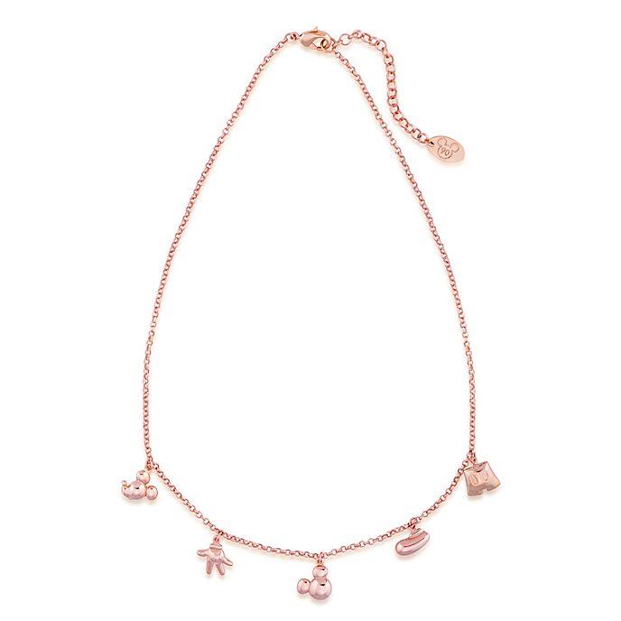 Collana placcata oro rosa con ciondoli Topolino, Couture Kingdom