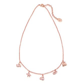 Couture Kingdom Mickey Mouse Rose Gold-Plated Charm Necklace