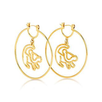 Couture Kingdom Simba Gold-Plated Hoop Earrings, The Lion King