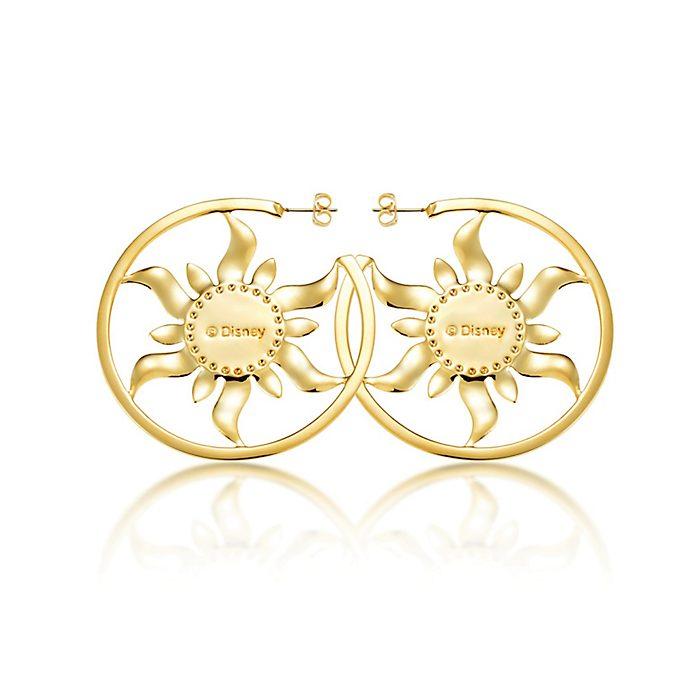 Pendientes de aro bañados en oro Rapunzel de Enredados, Couture Kingdom