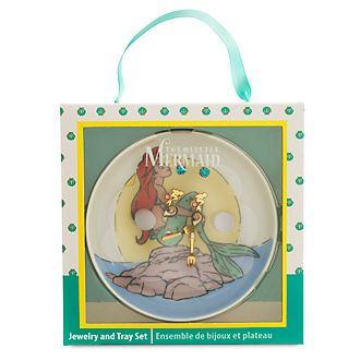 Disney Store The Little Mermaid Jewellery and Tray Set