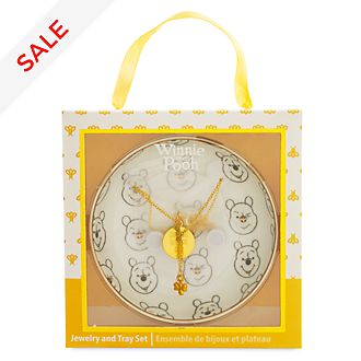 Disney Store Winnie the Pooh Jewellery and Tray Set
