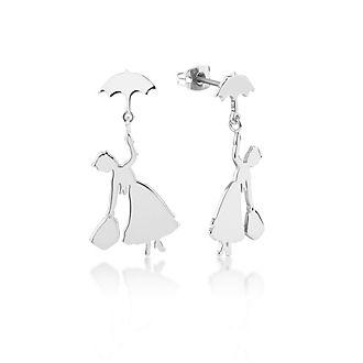Couture Kingdom Boucles d'oreilles Le retour de Mary Poppins plaquées en or blanc