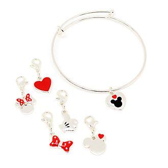 Disney Store Bracelet à breloques Mickey et Minnie