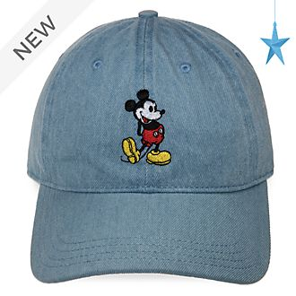 Disney Store Mickey Mouse Denim Cap For Adults