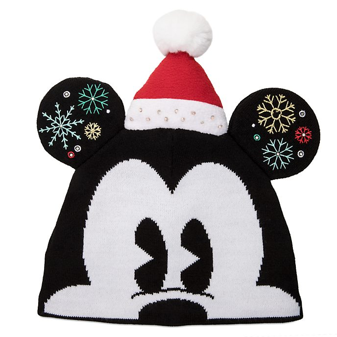 Disney Store Bonnet tricoté Mickey pour adultes, Holiday Cheer