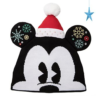 Disney Store Mickey Mouse Holiday Cheer Knitted Hat For Adults