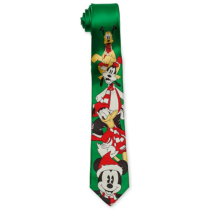 Disney Store Mickey and Friends Festive Tie For Adults