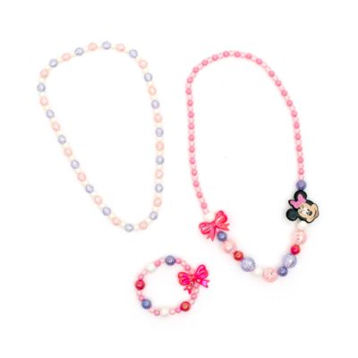 Minnie Mouse Necklace and Bracelet Jewellery Set