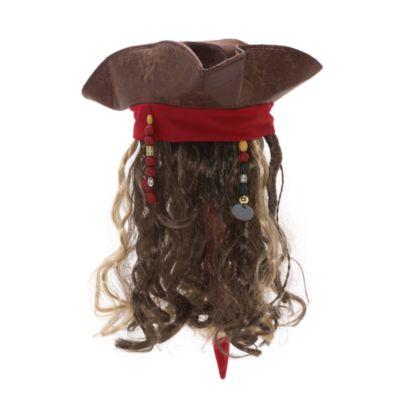 Jack Sparrow udklædningshat og paryk til voksne, Pirates of the Caribbean: Salazar's Revenge