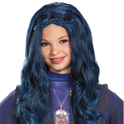 Perruque bleue Evie, Disney Descendants, pour enfants
