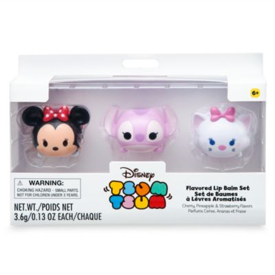 Minnie Mouse, Angel and Marie Tsum Tsum Lip Balm Set