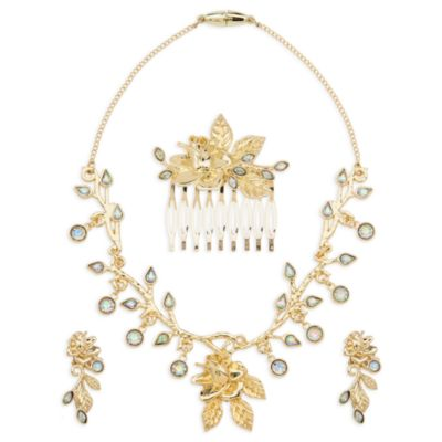 Belle Gold Costume Jewellery Accessory Set, Beauty and the Beast