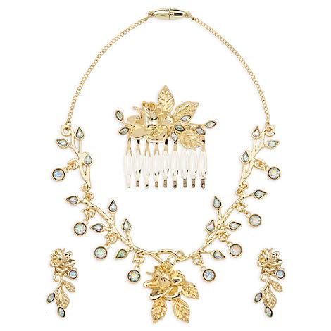 Set de accesorios de joyería para el disfraz dorado de Bella, La Bella y la Bestia