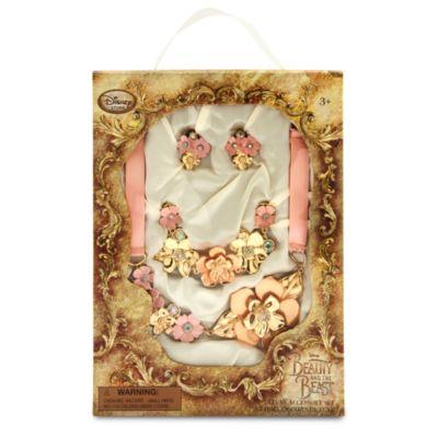 Belle rosensmykkesæt, tilbehør til kostumet fra Skønheden og Udyret