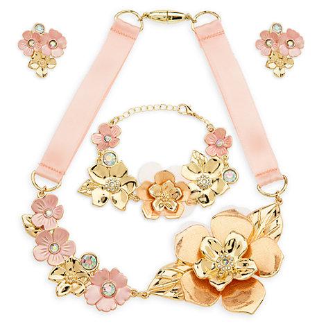Parure di gioielli per il costume floreale di Belle, La bella e la bestia