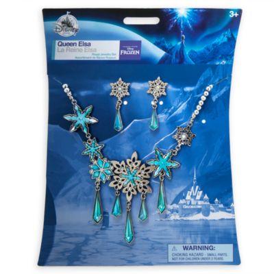 Parure de bijoux de déguisement pour enfant Elsa, La Reine des Neiges