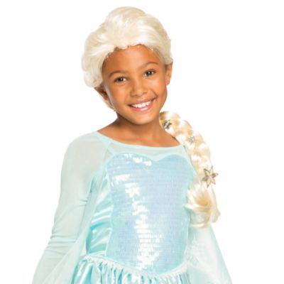 Disney Store Elsa Costume Wig For Kids