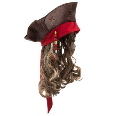 Cappello costume con parrucca bimbi Jack Sparrow, Pirati dei Caraibi: La Vendetta di Salazar