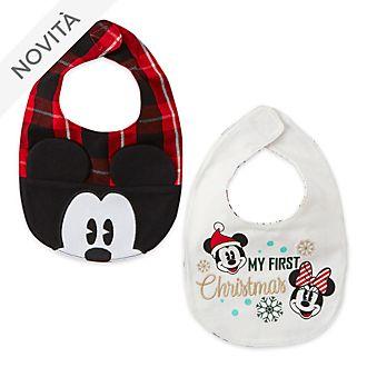 Bavaglini baby Topolino e i suoi amici Holiday Cheer Disney Store, confezione da 2
