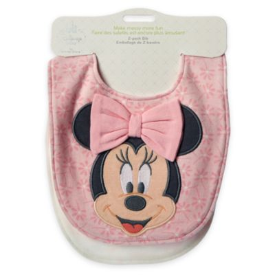 Minnie Mouse Layette Baby Bib, 2 Pack