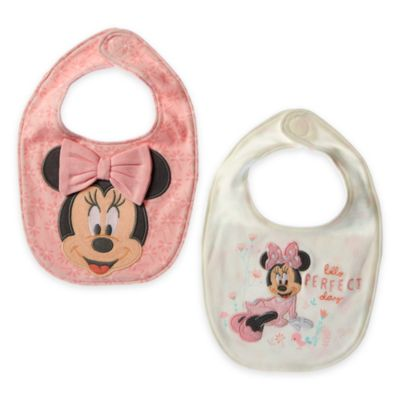 Baberos Minnie Bebés (pack de 2)