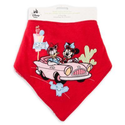Minnie Mouse-bandanahagesmække til baby, pakke med 2 stk.