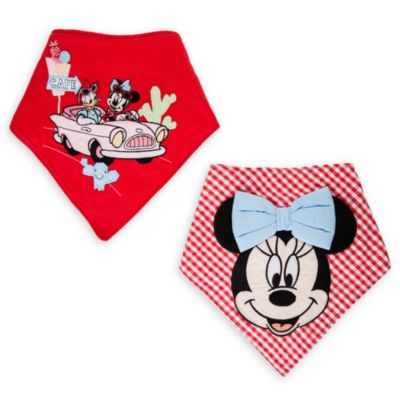 Lot de 2 bavoirs bandana Minnie Mouse