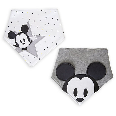 Mickey Mouse Bandana Bibs, Pack of 2