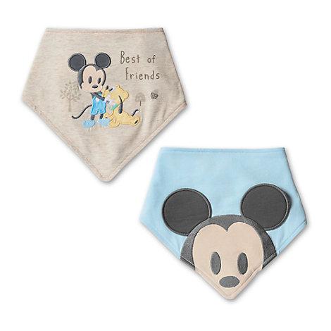 Mickey Mouse-bandanahagesmække til baby, pakke med 2 stk.