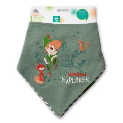 Baberos tipo pañuelo de Peter Pan, paquete de 2