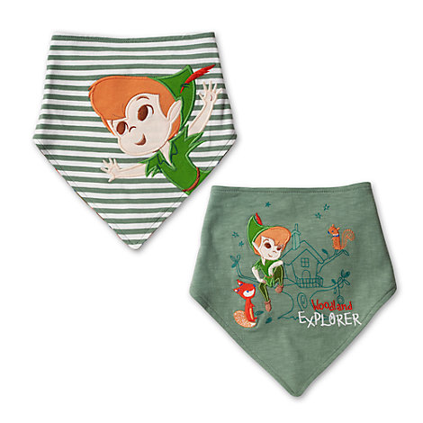 Lot de 2 bavoirs bandana Peter Pan