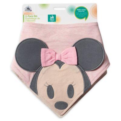 Minnie Mouse Bandana Bibs, Pack of 2