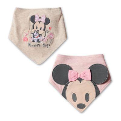 Lot de 2bavoirs bandana Minnie Mouse