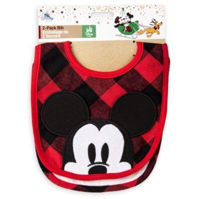 Mickey og Minnie Mouse hagesmække til baby, pakke med 2 stk.
