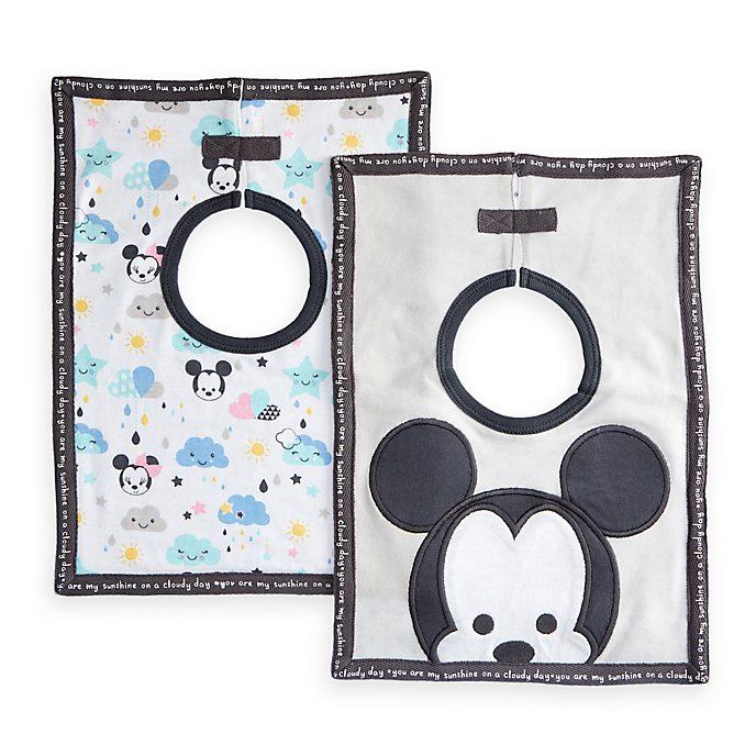 Paquete de 2 baberos de Mickey y Minnie para bebé