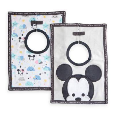 Lot de 2 bavoirs Mickey et Minnie Mouse pour bébé