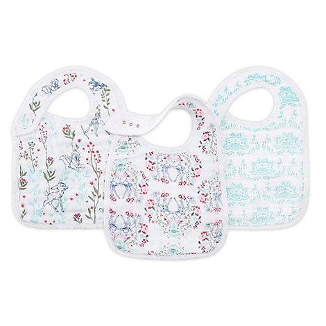 Lot de 3bavoirs à boutons-pression aden+anais Bambi pour bébés