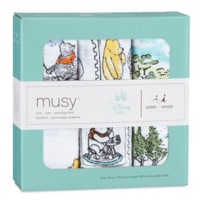 Winnie The Pooh Aden and Anais Baby Muslins, Set of 3