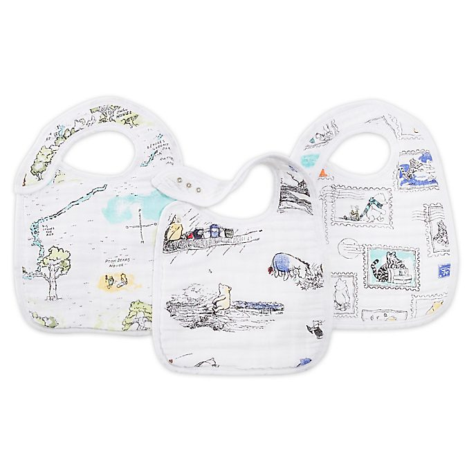 Aden and Anais Winnie The Pooh Baby Snap Bibs, Set of 3