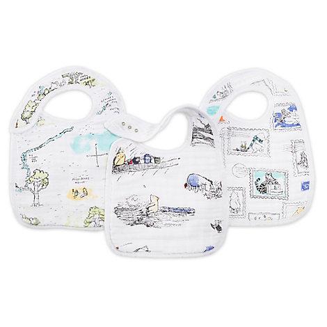 Winnie Puuh - Aden + Anais - Baby-Lätzchen mit Druckknopfverschluss; 3er Set