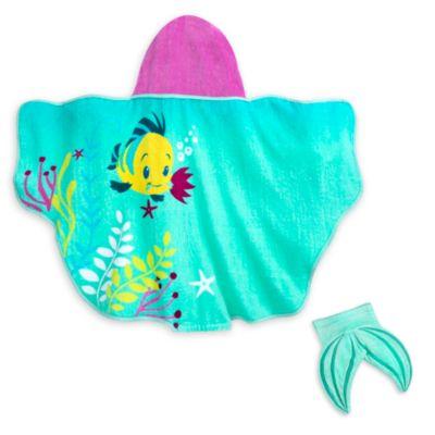 Serviette avec capuche pour bébé La Petite Sirène