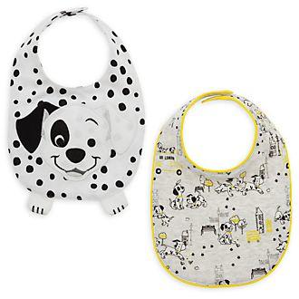 Lot de 2bavoirs Les 101 Dalmatiens pour bébé, Disney Store
