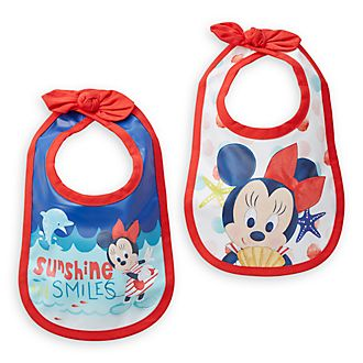 Disney Store Minnie Mouse Baby Bibs, Pack of 2