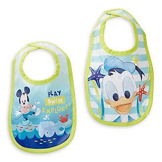 Baberos Mickey Mouse para bebé, Disney Store (2u.)