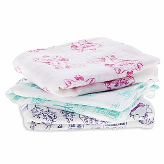Aden and Anais Marie Muslin Squares, Set of 3