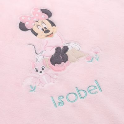 Pink Minnie Mouse Layette babytæppe